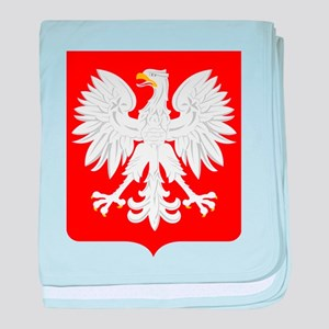 Arms of Poland baby blanket
