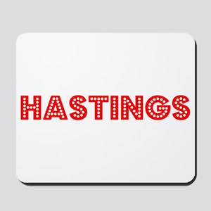 Retro Hastings (Red) Mousepad