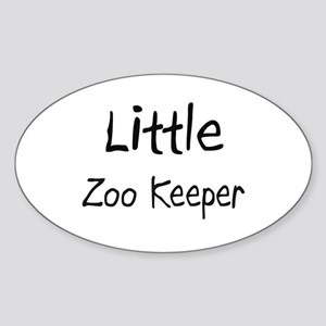Little Zoo Keeper Oval Sticker