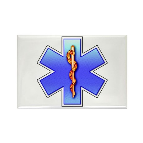 Star of Life Rectangle Magnet (10 pack)