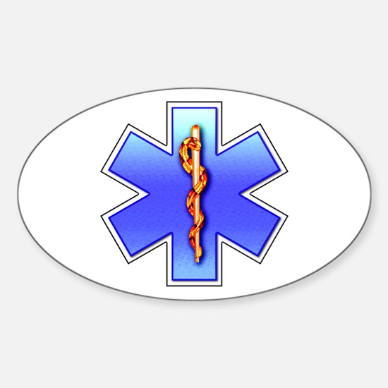 Star of Life Oval Decal