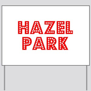 Retro Hazel Park (Red) Yard Sign