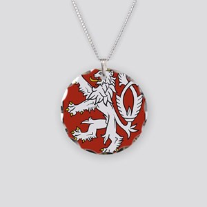 Coat of Arms czechoslovakia Necklace Circle Charm