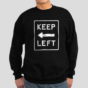 TShirtBlack_keepleft2 Sweatshirt