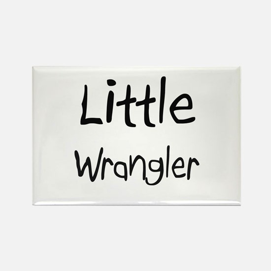 Little Wrangler Rectangle Magnet
