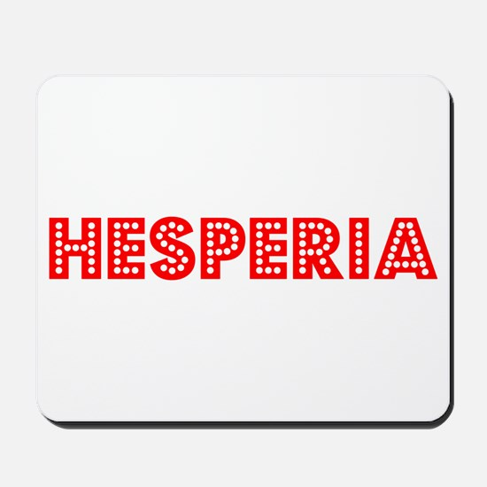 Retro Hesperia (Red) Mousepad