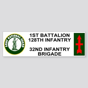 1-128th Infantry <BR>Bumper Sticker 1