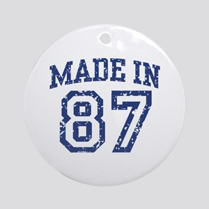 Made in 87 Ornament (Round)