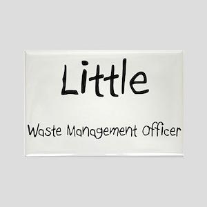 Little Waste Management Officer Rectangle Magnet