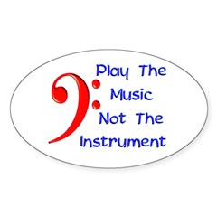 Play The Music Oval Sticker (10 pk)
