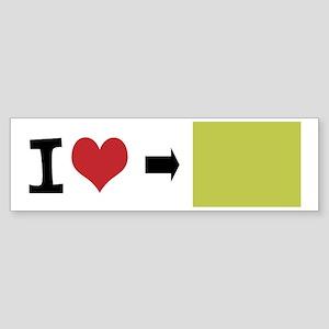 Customize Photo I heart Bumper Sticker