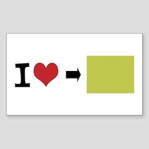 Customize Photo I heart Sticker