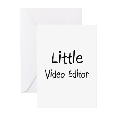 Little Video Editor Greeting Cards (Pk of 10)