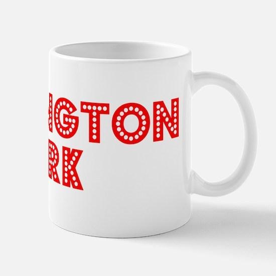 Retro Huntington P.. (Red) Mug