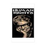 HUMAN RIGHTS Rectangle Sticker 50 pk)