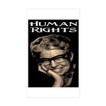 HUMAN RIGHTS Rectangle Sticker 10 pk)