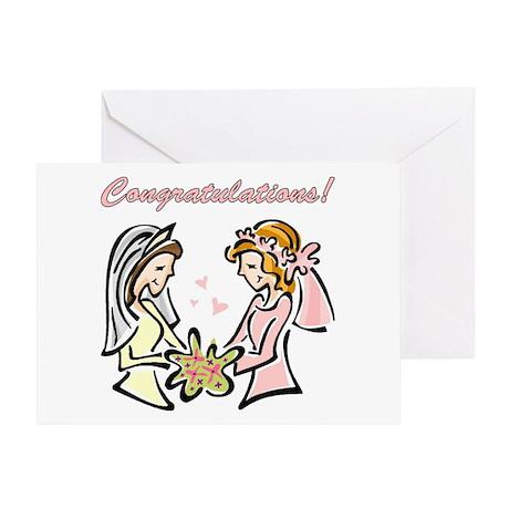 Lesbian Wedding Greeting Cards CafePress