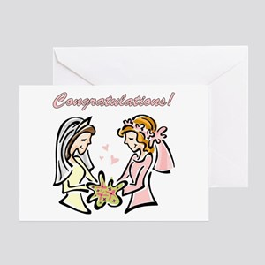 Congratulations Gay Wedding D Greeting Card