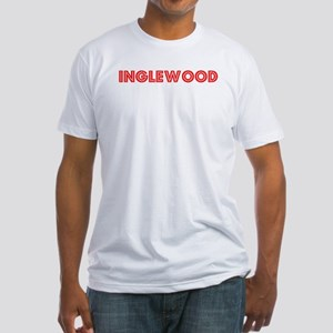 Retro Inglewood (Red) Fitted T-Shirt