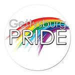 Gettysburg Pride logo Round Car Magnet