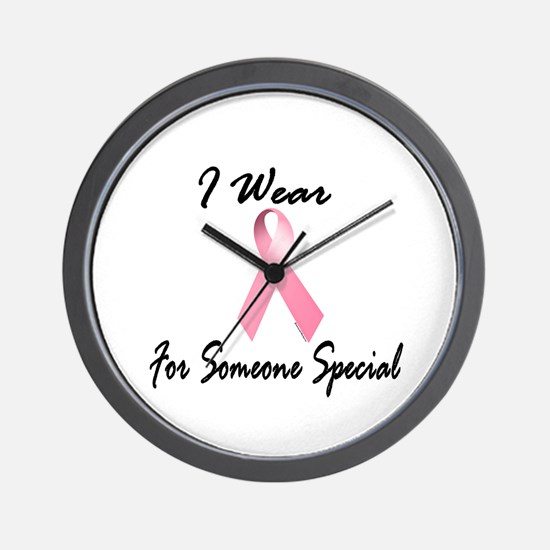I Wear Pink For Someone Special 1.2 Wall Clock