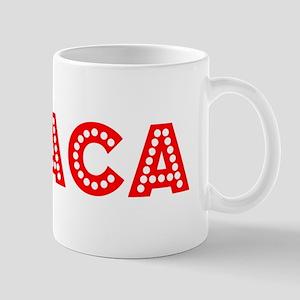 Retro Ithaca (Red) Mug