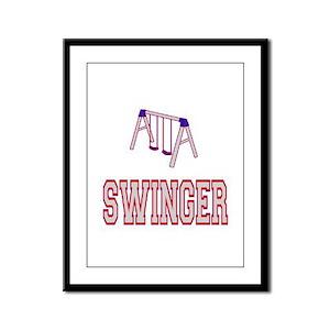 Swinger Framed Panel Print