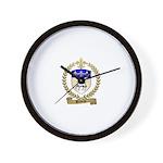 BELIVEAU Family Crest Wall Clock