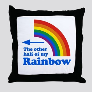The other half of my rainbow Throw Pillow