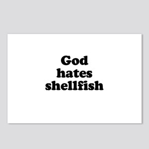 God hates shellfish Postcards (Package of 8)