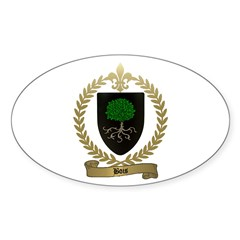 BOIS Family Crest Oval Decal