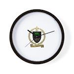 BOIS Family Crest Wall Clock