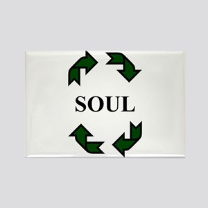 Recycled Soul Rectangle Magnet