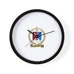 BOISVERT Family Crest Wall Clock