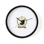 BONNEAU Family Crest Wall Clock