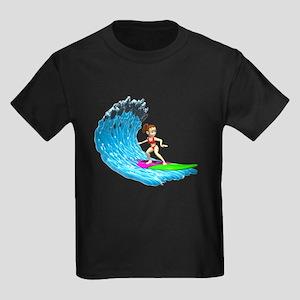 Surfer Girl Kids Dark T-Shirt