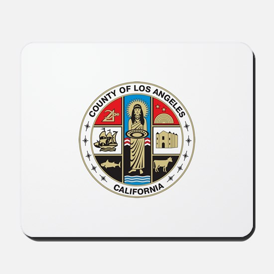LOS-ANGELES-COUNTY-SEAL Mousepad