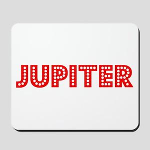Retro Jupiter (Red) Mousepad