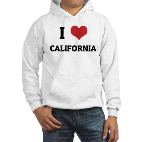 I Love California Hooded Sweatshirt