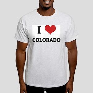 I Love Colorado Ash Grey T-Shirt