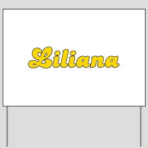 Retro Liliana (Gold) Yard Sign