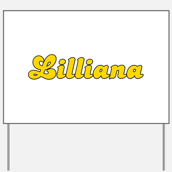 Retro Lilliana (Gold) Yard Sign