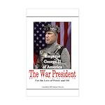 The War President Rectangle Sticker