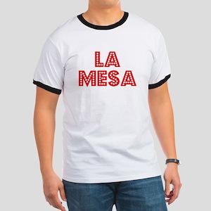 Retro La Mesa (Red) Ringer T