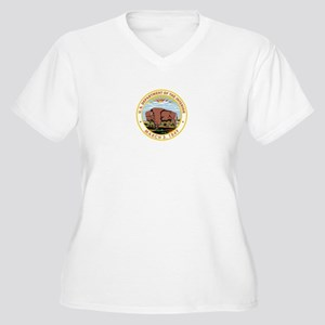 DEPARTMENT-OF-THE-INTERIOR- Womes Plus-Size V-Neck