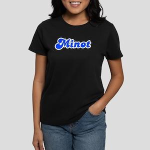 Retro Minot (Blue) Women's Dark T-Shirt
