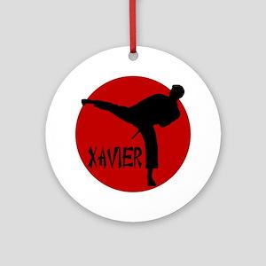 Xavier Karate Ornament (Round)