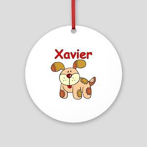 Xavier Puppy Ornament (Round)