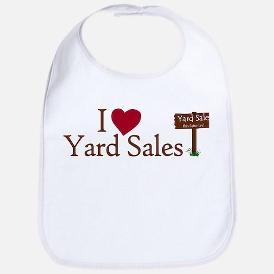 I Love Yard Sales Bib