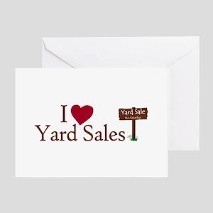 Yard sale greeting cards cafepress i love yard sales greeting card m4hsunfo